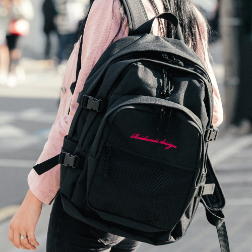 [발렌타인 1+1 DAY♥]OH OOPS BACKPACK (BLACK/PINK)