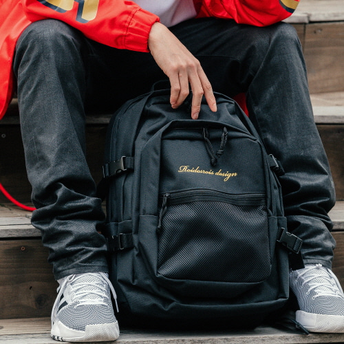 OH OOPS BACKPACK (BLACK/YELLOW)