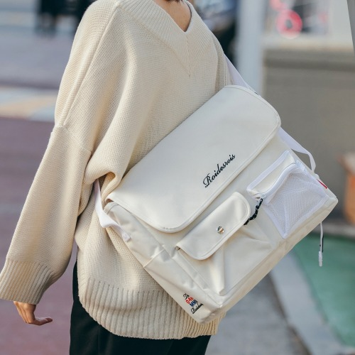 HUSH MESSENGER BAG (IVORY)