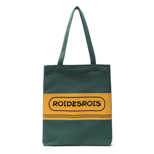 TWO TONE LOGO ECO BAG (GREEN)