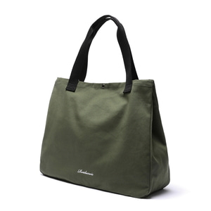 SNAP BIG SIZE TOTE BAG (KHAKI)