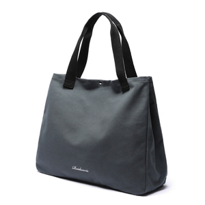 SNAP BIG SIZE TOTE BAG (CHARCOAL)