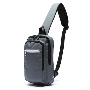 DOUBLE SQUARE SLING BAG (D.GRAY)