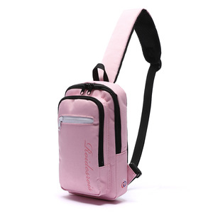 DOUBLE SQUARE SLING BAG (PINK)