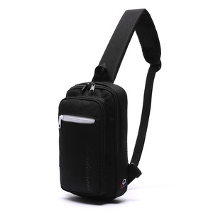 DOUBLE SQUARE SLING BAG (BLACK)