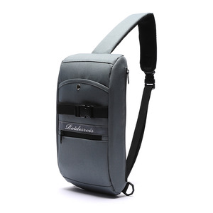 FRONT BUCKLE SLING BAG (D.GRAY)