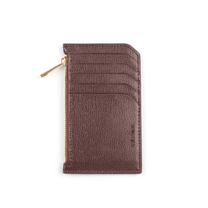 SLIM LEATHER CARD WALLET (BROWN)