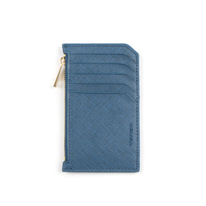 SLIM LEATHER CARD WALLET (BLUE)