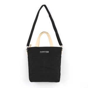 [#아울렛 한정_특가상품]CANVAS POCKET TOTE CROSS BAG (BLACK)
