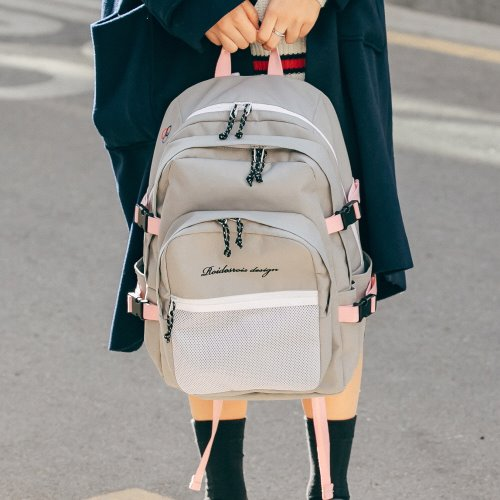 OH OOPS BACKPACK (GRAY/PINK)