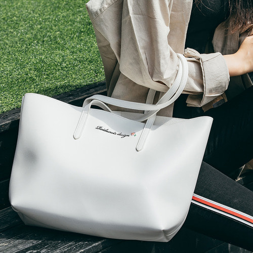MUGUNGHWA SHOPPER BAG (WHITE)