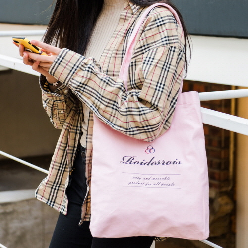 BASIC LOGO ECO BAG (PINK)