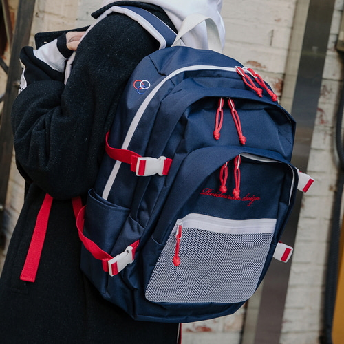 OH OOPS BACKPACK (NAVY/RED)