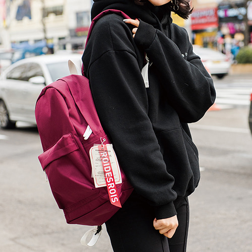LABEL POINT DAYPACK (BURGUNDY)