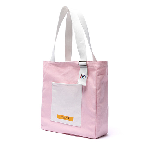 COLOR BLOCK SHOULDER BAG (PINK)