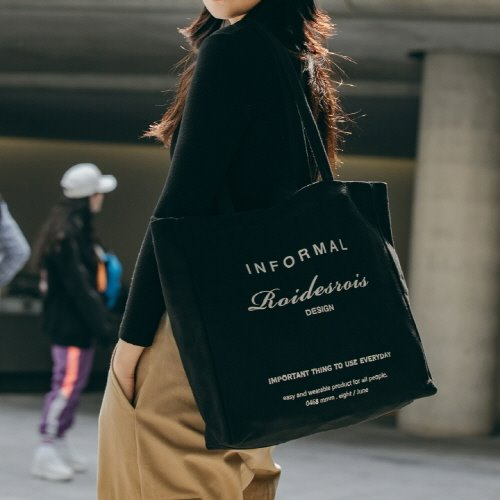 INFORMAL SHOULDER BAG (BLACK)