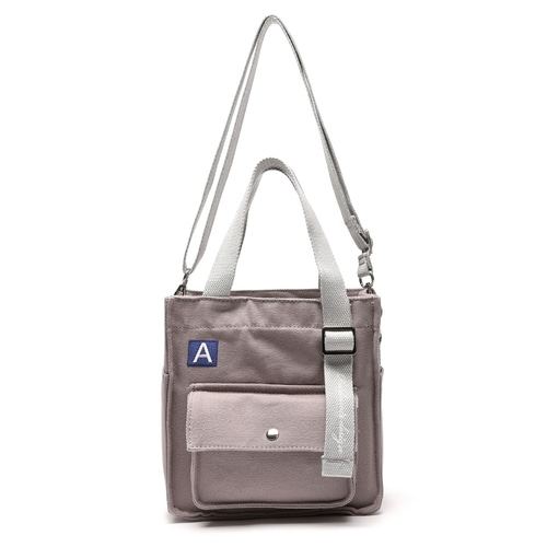 MINI A LABEL CROSS BAG (GRAY)
