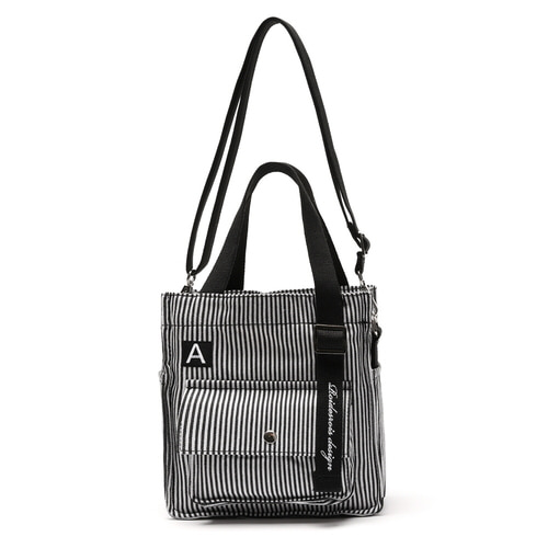 MINI A LABEL CROSS BAG (STRIPE)