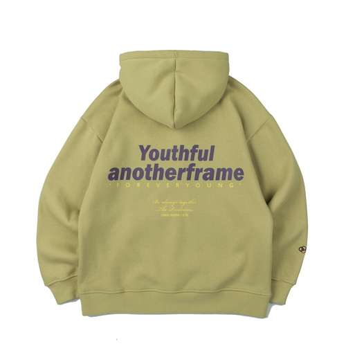 FOREVER YOUNG HOODIE (OLIVE GREEN)