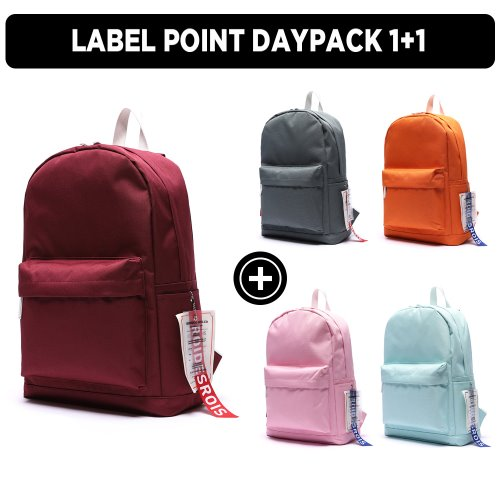 [★GOOD BUY 2019 ] 1+1 LABEL POINT DAYPACK 5컬러