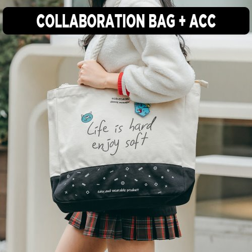 [ ★GOOD BUY 2019 ] SWEET SLOGAN ROPE TOTE BAG (IVORY)