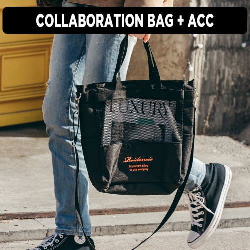 [ ★GOOD BUY 2019 ] [로아드로아x콜카] FOOT MESH CROSSBAG (BLACK)