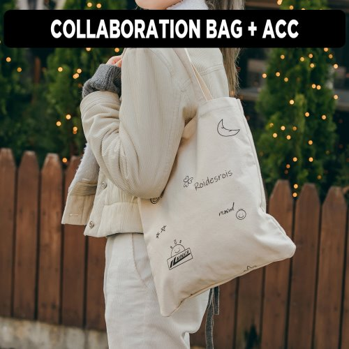 [ ★GOOD BUY 2019 ] [로아드로아x콜카] GRAVITY ECOBAG (IVORY)
