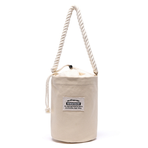 [#아울렛 한정_특가상품]ROPE COTTON SHOULDER BAG (BEIGE)