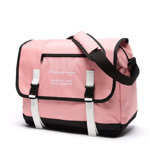 [창고개방]CLAP CLAP MESSENGER BAG (PINK)